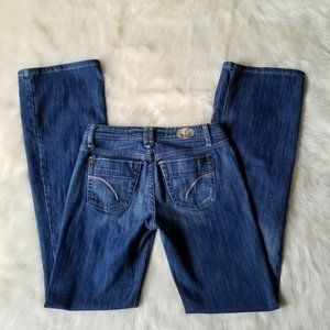 Joe's Jeans Bootcut Embroidered Patch Jeans 25X32